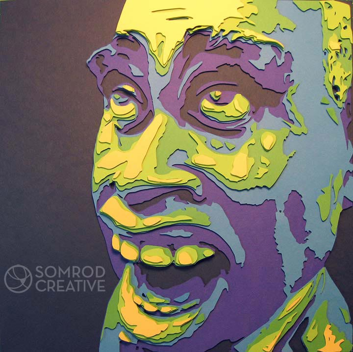 Louis Armstrong Caricature Optograph