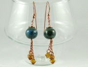 Blue Porcelain Earrings by Sharon Rodriguez