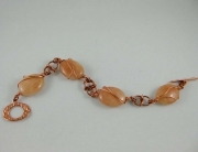Copper Wire Wrapped Gemstone Bracelet