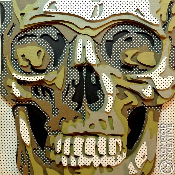 Dot Skull Optograph