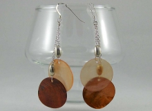 Orange Mother of Pearl Earrings