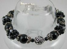 Black Onyx Rounds with Sterling Silver Accents