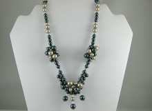 Swarovski Pearl Cluster Necklace
