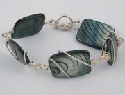 Sterling Silver Wrapped Swirls Bracelet