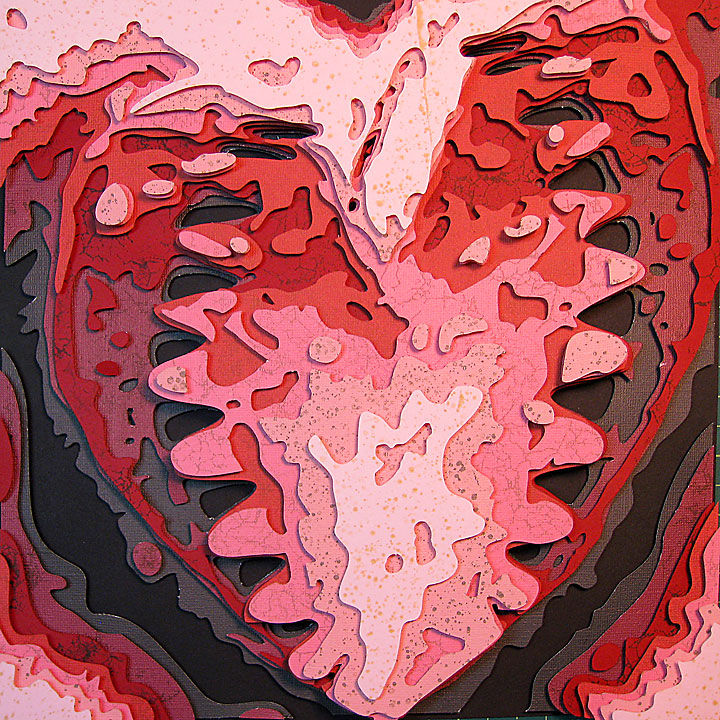 Black Tooth Heart Optograph
