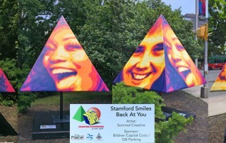 Somrod Pyramid Smiles Art Shapes Stamford