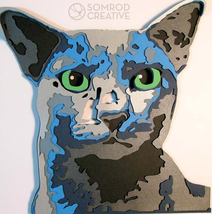 Russian Blue Optograph