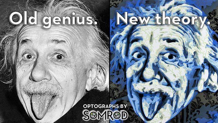Albert Einstein Optograph