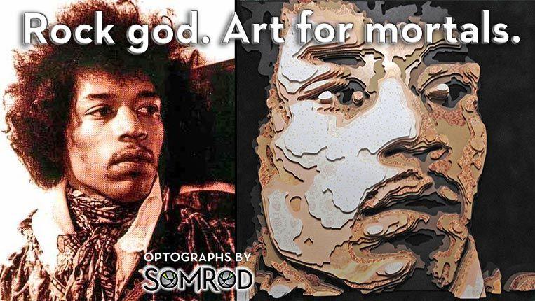 Jimi Hendrix Optograph