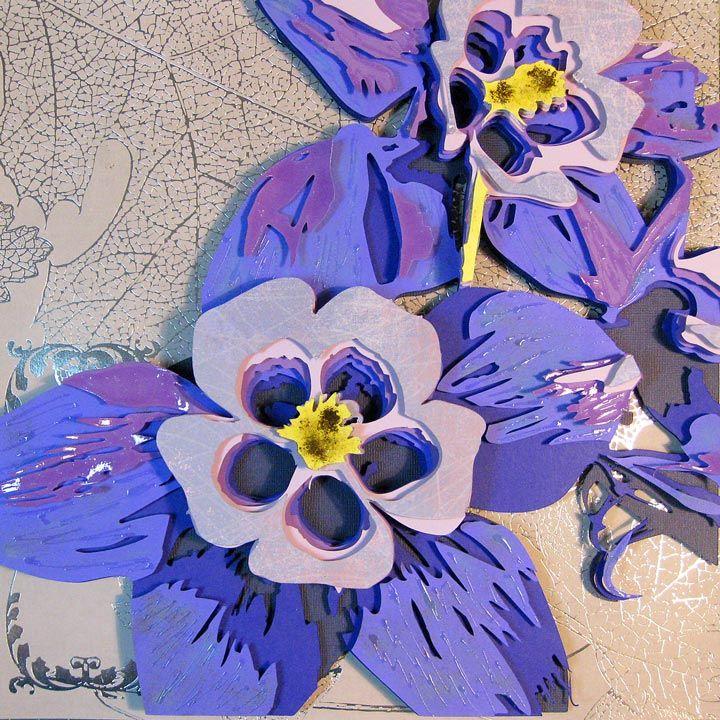 Columbine Flower Optograph